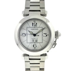 Cartier Pasha 2475 Date Stainless Steel Automatic Watch