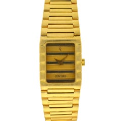 Vintage Concord Dameuri Watch 18 Karat Yellow Gold Ladies Quartz