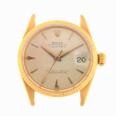 Rolex 6627 Vintage 18 Karat Yellow Gold Date Automatic Head Only, circa 1950