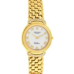 Rolex 6623 Diamond Cellini 18 Karat Yellow Gold Ladies Watch