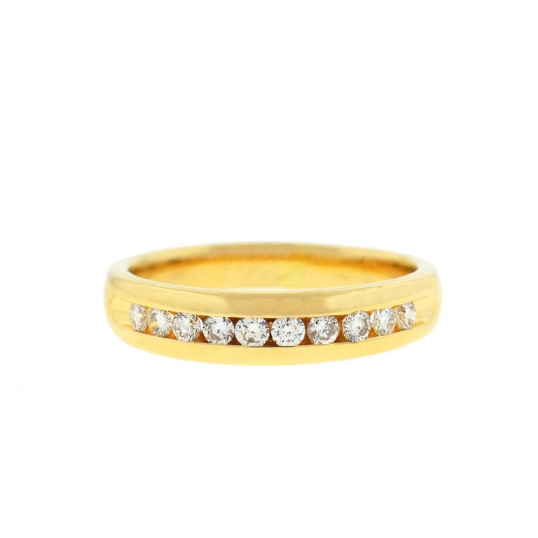 14 Karat Yellow Gold Diamond Wedding Band .25 Carat