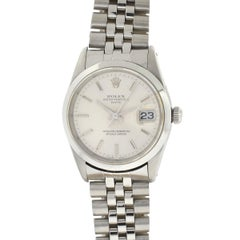 Rolex L622301 Date Stainless Steel Silver Dial Men's Watch