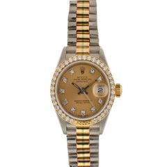 Rolex 69149 Tri-Color Ladies President Factory Diamond Watch