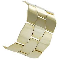 Cellini Italian 1980's Gold Link Bracelet