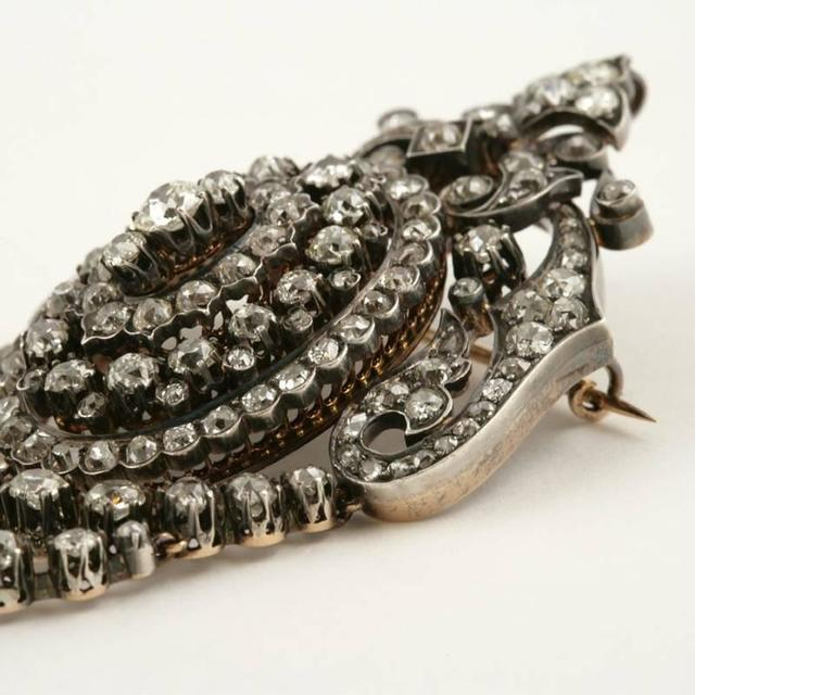 Napoleon III French Antique Diamond Corsage Brooch 5