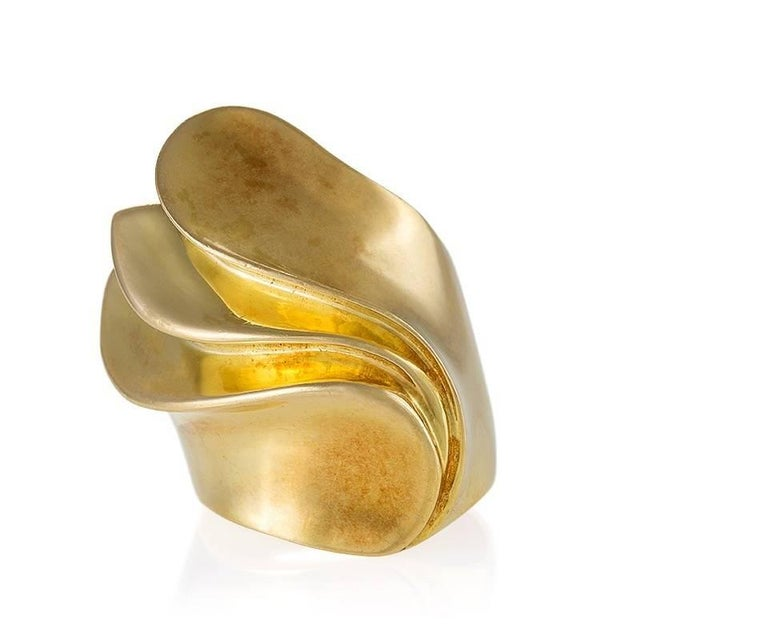 Women's French 'Modernist' Gold Ring For Sale