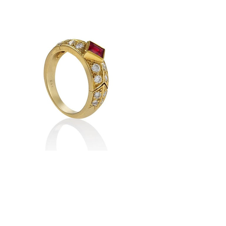 Gold, Ruby and Diamond Ring by Van Cleef & Arpels In Excellent Condition For Sale In New York, NY