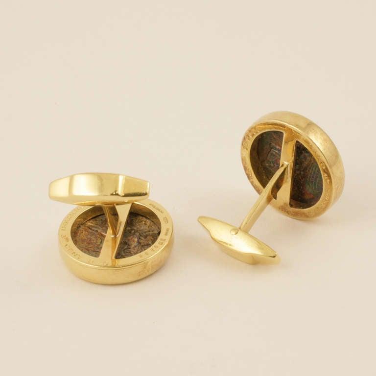 bulgari gold and ancient coin cufflinks 2