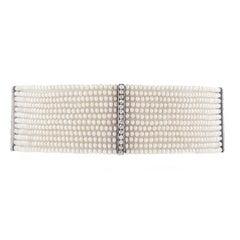 Edwardian Seed Pearl and Diamond Choker