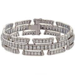 1930's Art Deco Diamond and Platinum Bracelet