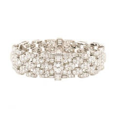 Bulgari Art Deco Diamond Platinum Bracelet