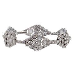 1920's Art Deco Diamond and Platinum Link Bracelet