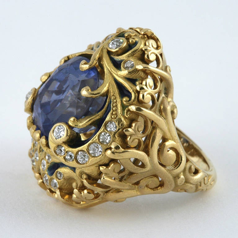 products gold engagement victorian sapphire antique ring enamel boylerpf edited