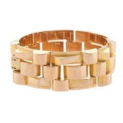 Van Cleef & Arpels Tank Track Retro Gold Bracelet