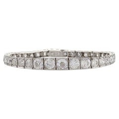 French 1920's Art Deco Diamond and Platinum Bracelet