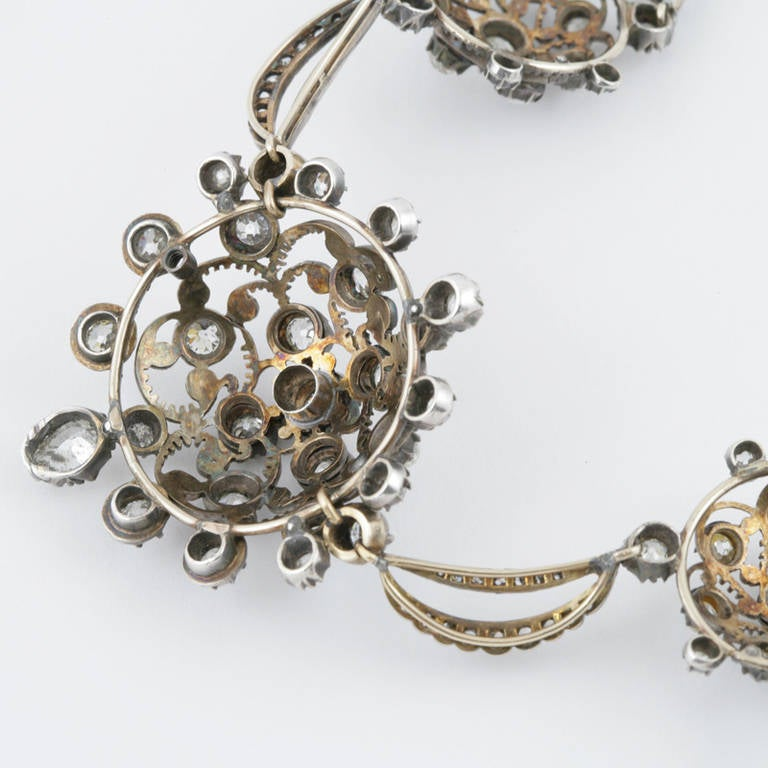 Antique diamond silver topped gold necklace for sale at for Antique jewelry stores nyc