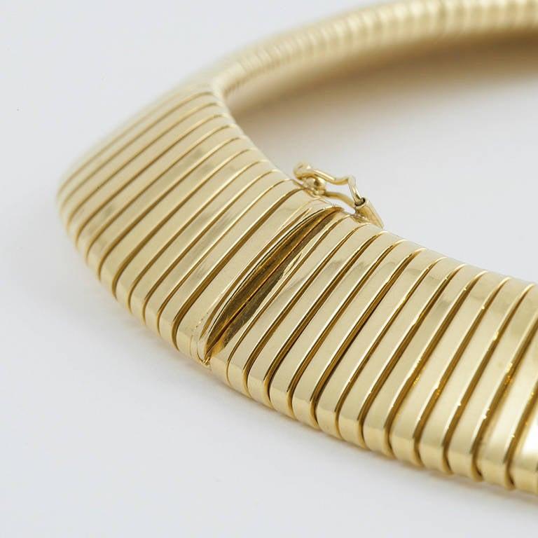 Italian Retro Gold Tubogas Necklace 2