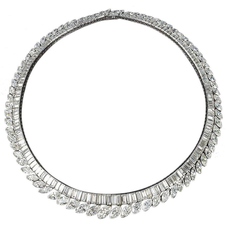 1960s Diamond and Platinum Necklace
