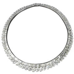 1960s Diamond and Platinum Necklace