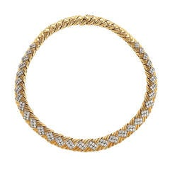 Late 20th Century Diamond and Gold Necklace