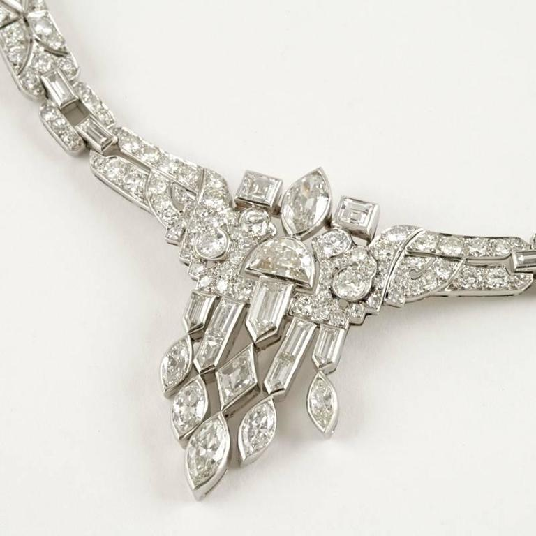 1920's Art Deco Diamond and Platinum Necklace 8