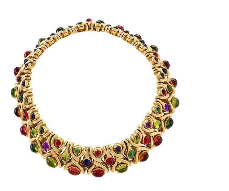 Bulgari 1980's Multi-gem Necklace 2