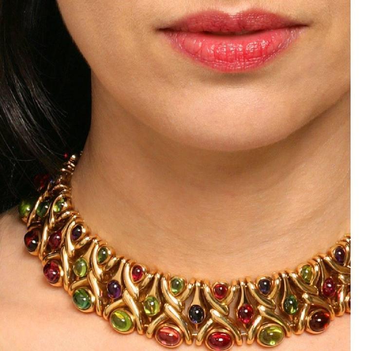Bulgari 1980's Multi-gem Necklace 3