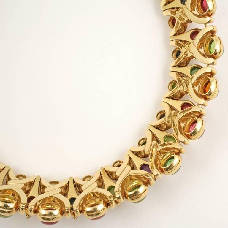 Bulgari 1980's Multi-gem Necklace 4