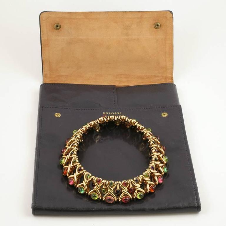 Bulgari 1980's Multi-gem Necklace 10