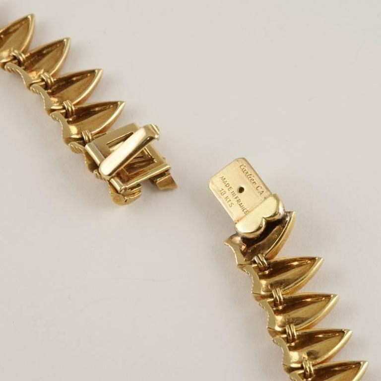 Cartier Paris 1950's Diamond, Gold and Platinum Fringe Necklace For Sale 2