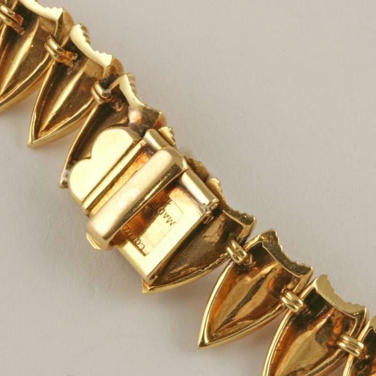 Cartier Paris 1950's Diamond, Gold and Platinum Fringe Necklace For Sale 3