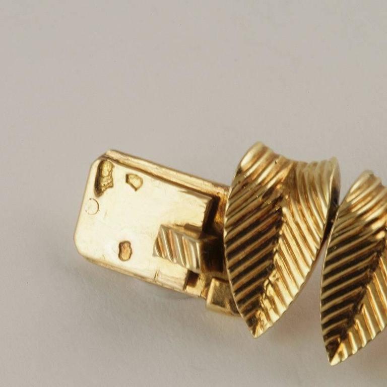 Cartier Paris 1950's Diamond, Gold and Platinum Fringe Necklace For Sale 5