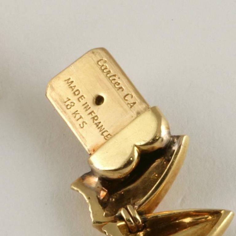 Cartier Paris 1950's Diamond, Gold and Platinum Fringe Necklace For Sale 6