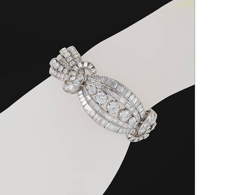 Mellerio dits Meller Retro Diamond and Platinum Bracelet 3