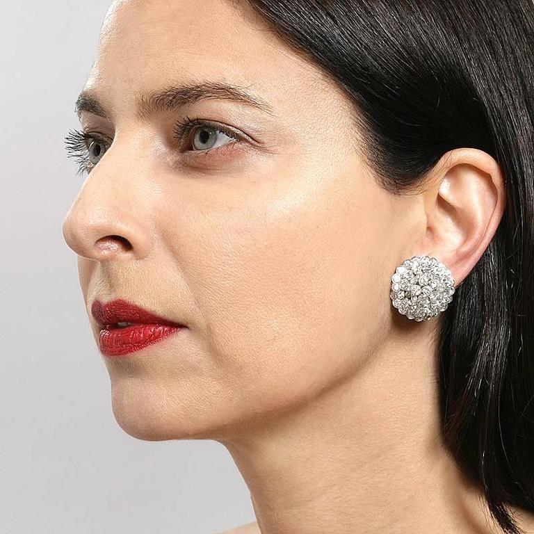 Van Cleef & Arpels Late-20th Century Diamond, Platinum and Gold Earrings 5