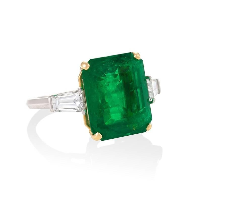 estate emerald platinum ring for sale at