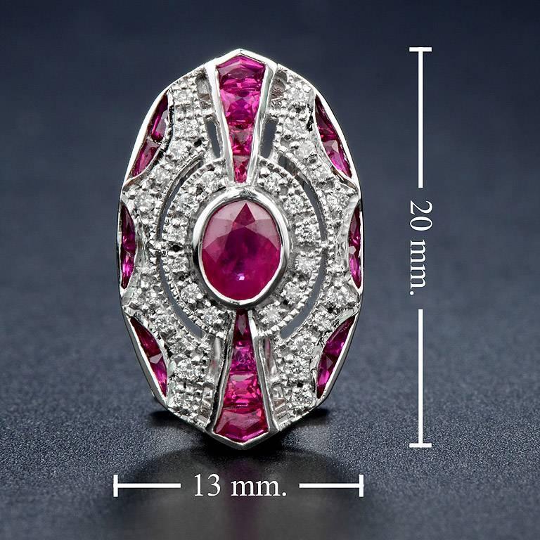 Ruby Diamond Clip-On Earrings For Sale 1