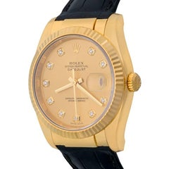 Rolex Yellow Gold Datejust Automatic Wristwatch Ref 116138