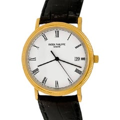 Patek Philippe Yellow Gold Calatrava Quartz Wristwatch Ref 3744 J
