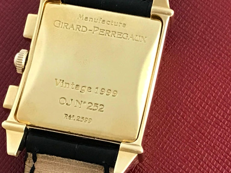 Men's Girard Perregaux Vintage Yellow Gold Wristwatch Ref 2599, circa 1945 For Sale