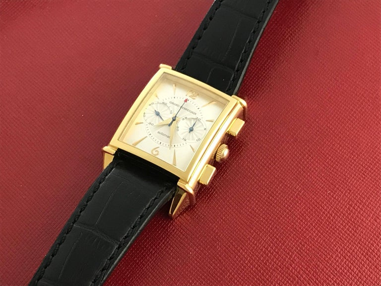 Girard Perregaux Vintage Yellow Gold Wristwatch Ref 2599, circa 1945 In New Condition For Sale In Dallas, TX