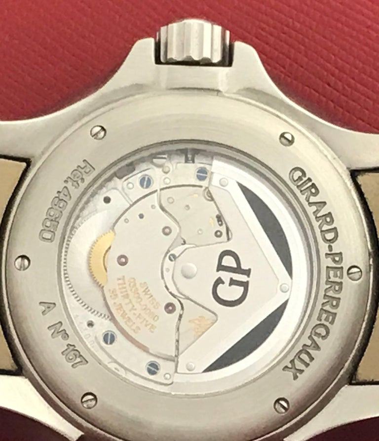 Girard Perregaux stainless steel Traveller Moonphase Automatic Wristwatch  For Sale 1