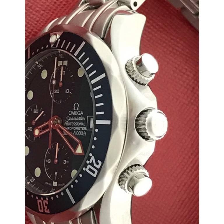Men's Omega Stainless Steel Seamaster Professional Chronograph Automatic Wristwatch For Sale