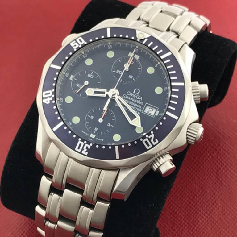 Omega Stainless Steel Seamaster Professional Chronograph Automatic Wristwatch In Excellent Condition For Sale In Dallas, TX