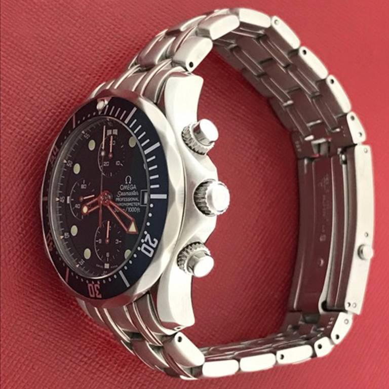 Omega Stainless Steel Seamaster Professional Chronograph Automatic Wristwatch For Sale 1