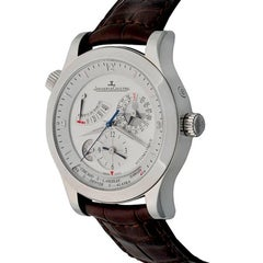 Jaeger LeCoultre stainless Steel Master Geographique Automatic Wristwatch