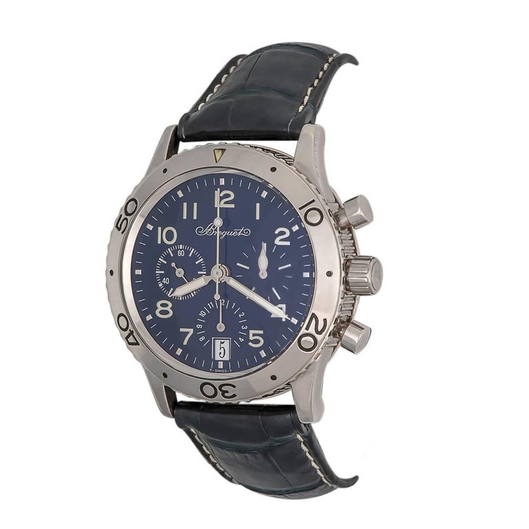 Breguet White Gold Transatlantic Chronograph automatic Wristwatch