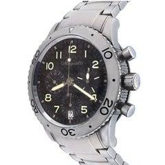 Breguet Stainless Steel Transatlantic Type XX Chronograph Automatic Wristwatch