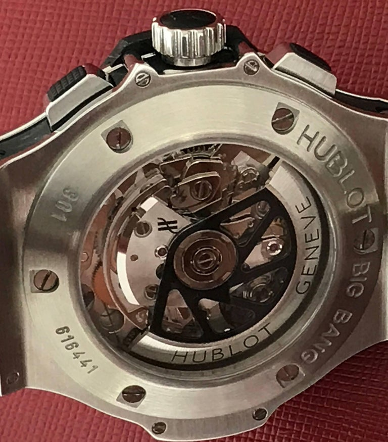 Hublot Stainless Steel Big Bang Chronograph Automatic Wristwatch For Sale 1