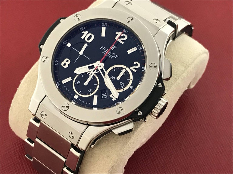 Contemporary Hublot Stainless Steel Big Bang Chronograph Automatic Wristwatch For Sale